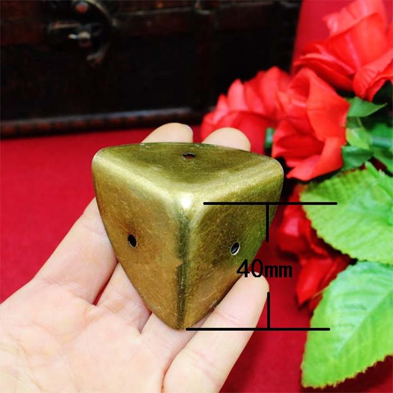 Antique Style Metal Box Corner Iron Protection Case Edge Guard Corner Cover,Wooden Box Corners,Bronze Tone,40mm,1Pc allen roth brinkley handsome oil rubbed bronze metal toothbrush holder