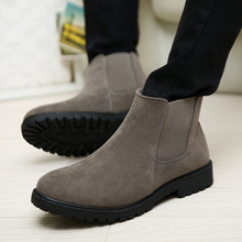 Fine Zero New Autumn Winter Male Casual Warm Plush  Ankle Chelsea Boots Male Shoes Suede Leather Slip Ons Motorcycle Man Boots