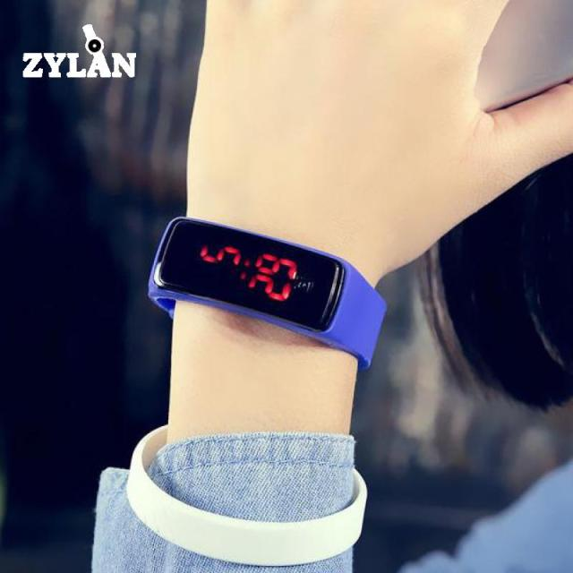 ZYLAN Smart Women Men Sport Wristband Wristwatch Digital Display Female Male Sil