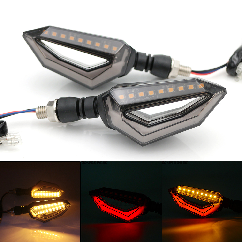 Universal Motorcycle 12 LED Turn Signal Lights Blinker Front Rear Lights For Harley Cruiser Honda Kawasaki BMW Yamaha
