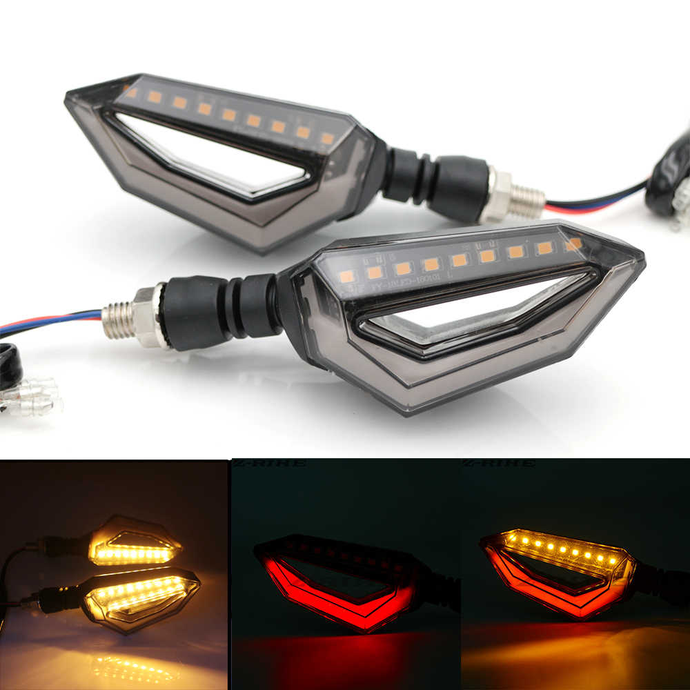 Universal Motorcycle 12 LED Turn Signal Lights Blinker Front Rear Lights for Harley Cruiser Honda Kawasaki BMW Yamaha