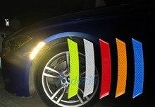 Water Proof Car Wheel Eyebrow Reflective Warning 3D Sticker Front Bumper For Toyota Land Cruiser Prado FJ 150 120 Accessories