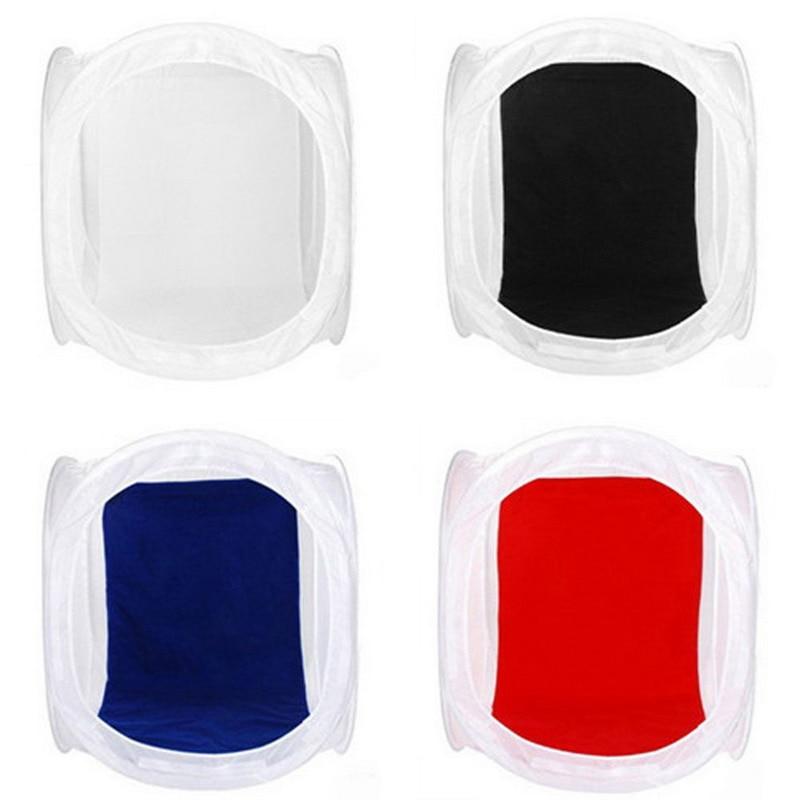 ÁLAMO Plegable Photo Studio Shooting Tent Cube Softbox 50x50 cm con 4 Telones de