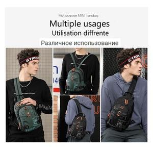 Image 5 - New Designer Fashion Men Backpack Mini Soft Touch Multi Function Small Backpack Male Shoulder Bag Men Purse