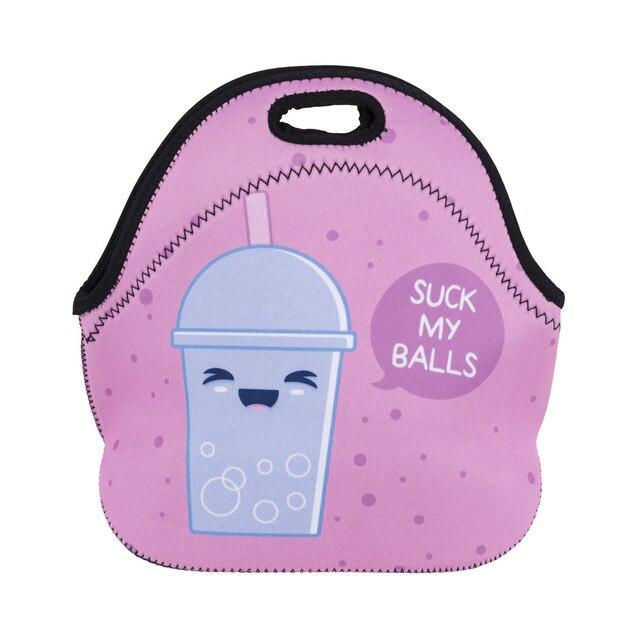 Unicorn Lunch Bag 3d Printed Cartoon New Fashion Neoprene Waterproof Zipper Cooler For Picnic Women