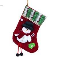 Christmas Xmas Stocking Sack Santa Snowman Reindeer Hanging Decor Christmas Gift