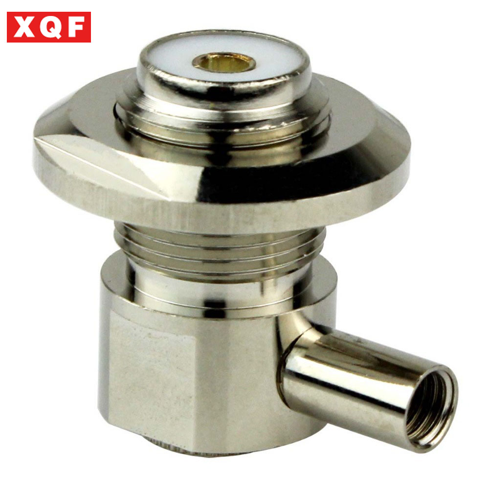 XQF Car Radio Feeder 50-3 Cable Right Angle SL16/UHF Female Waterproof/Metal Cap RF Coaxial Connector Adapter UHF-KW-3