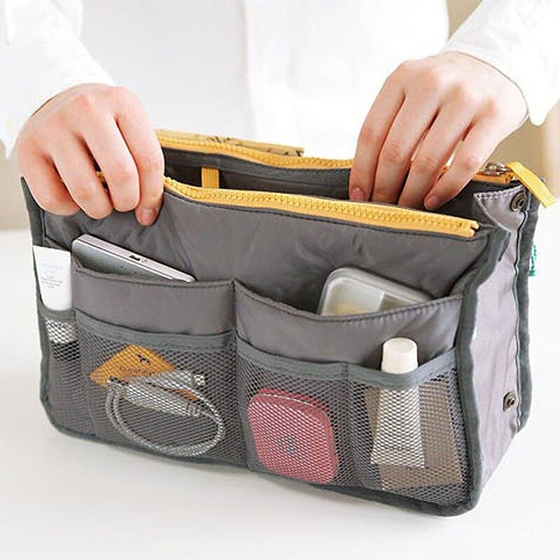 New 2019 Women Cosmetics Organizer Bag Double Zipper Makeup Bags Portable Multifunctional Travel Pockets Handbag Sports For Girl