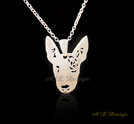 Bull Terrier Dog Ring Metal Puppy Silver or Gold Tone English Costume Jewellery