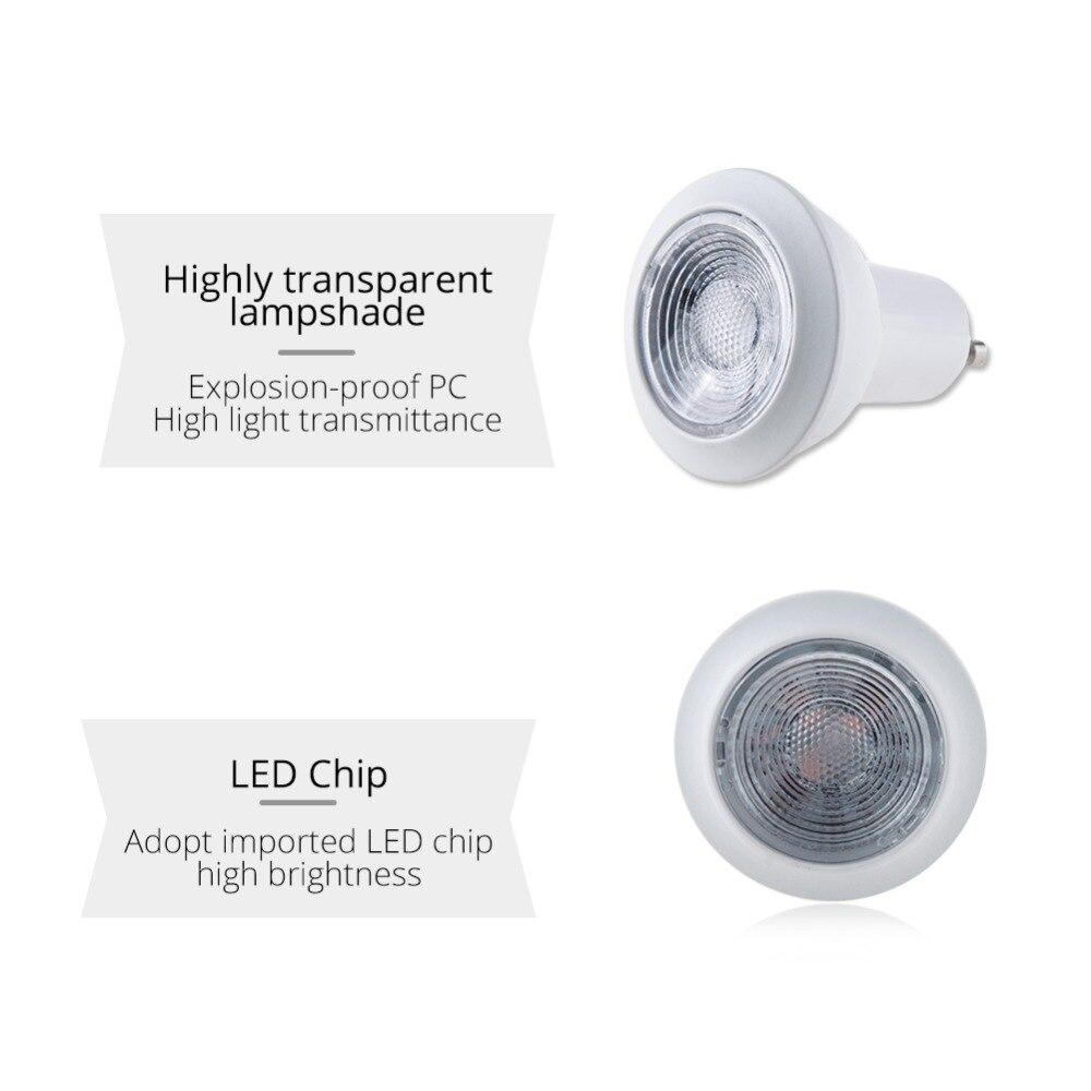 Eeetoo Светодиодный лампочки E27 GU10 B22 GU5.3 Праздничное освещение AC220V 110 В 3 Вт светодиодный светильник RGB + w/ WW Bombillas светодиодный E27 Para Эль Хогар