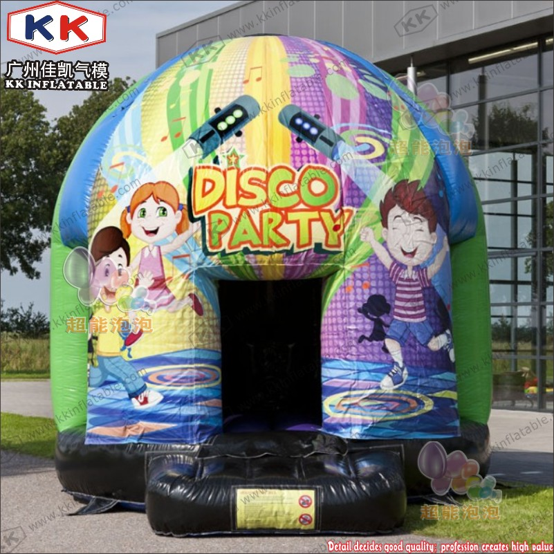 2018 Inflatable Disco Music Moonwalk Jungle Jumping Bouncer With Artwork Printing2018 Inflatable Disco Music Moonwalk Jungle Jumping Bouncer With Artwork Printing
