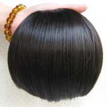 Free shipping  brazilian remy clip in human hair extensions hair bangs Fringe bangs women blunt human hair  bangs