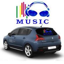 OKEEN 45*30 cm Auto Muziek Equalizer Sticker Gitaar Gepersonaliseerde Oordopjes Patroon Auto EL Sheet Sticker EQ Voorruit Sticker