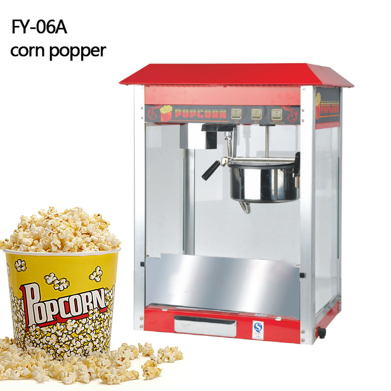 Classic popcorn machine FY-06A 110v 220v Electric commercial Desktop Mini Popcorn Machine Popper Maker 10oz stainless steel 110v 220v electric commercial popcorn machine with temperature control