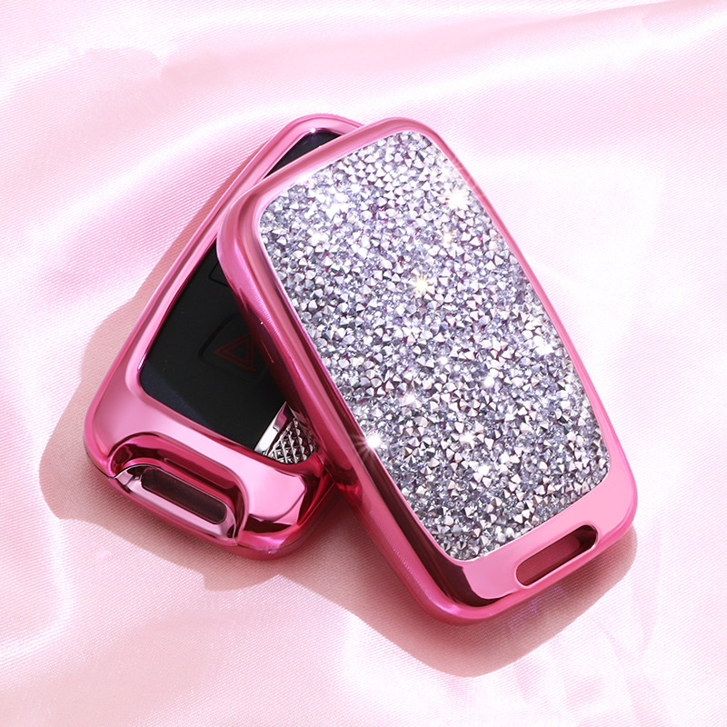 Image 5 - Artificial Crystal key case cover Key case protect shell holder For Land Rover A9 Range Rover Sport Evoque Freelander 2 Jaguar-in Key Case for Car from Automobiles & Motorcycles