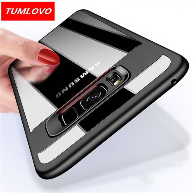 check out bcf6f 4681f US $2.39 20% OFF|TUMI.OVO For Samsung Galaxy Note 8 Cover for S8 Plus S7  Edge J3 J5 J7 2016 2017 Grand Prime J2 Full Transparent Back Cover Cases-in  ...