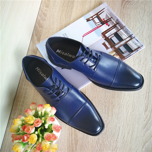 Image 3 - Misalwa Brand Men Simple Lightweight Men Classic Derby Shoes Male Business Dress Formal Shoes Red Blue Size 37 48 Drop Shipping
