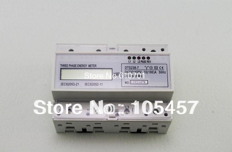 DIN Rail 230/400VAC 3 Phase Watt-hour KWH Energy Meters 50hz 10(100A) DTS238-7 high quality 2 meter tape 8mm x 0 15mm spcc pure ni plate nickel strip tape strap for battery welding diy pack assembly page 2
