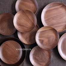 Japan Stil Zakka holz nussbaum geschirr gerichte platten holz kleine/mittleren holz obstdessertteller kreative dekorative platten