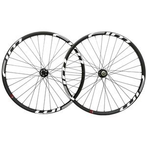 Image 5 - Bicicleta de Montaña de carbono XC/Trail wheels, con cubierta de eje pasante, sin tubo, 27mm de ancho