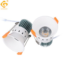 12W Recessed Downlights Round Led Panel Light COB White Aluminum Indoor Lighting 85-265V 12V Spot Lamp LED Ceiling Home Kitchen led downlights round double rings rotary fitting e27 85 265v 75mm 3 inch cut hole recessed mounted spot lamp bulb replaceable