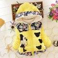 Nuevo Invierno de los Bebés de Minnie Personaje Encantador Chirdren de Algodón Cabritos de la Capa Caliente Gruesa Sudaderas Con Capucha de prendas de Vestir Exteriores Niñas Chaleco