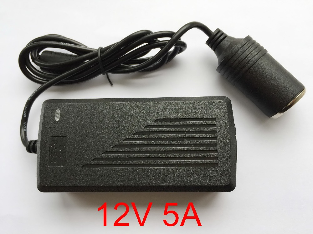 1pcs High Quality 12v 5a Car Cigarette Lighter Power Ac