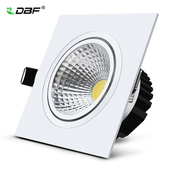 Dimmable High CRI White Square Recessed led downlight 7W 9W 12W 15W COB LED Ceiling Spot Lamp AC85-265V 3000K/4000K/6000K Light 7w 12w 15w rail track light cob led track light high quality surface mounted led ceiling light ac85 260v warm white light