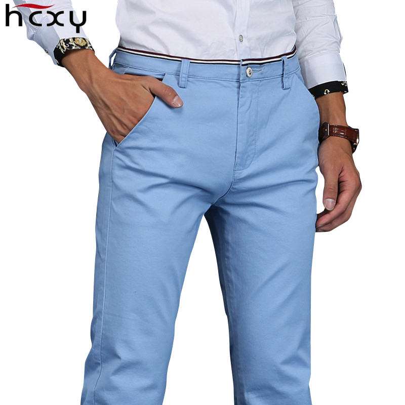 HCXY 2019 Men Pants Cotton Warm Straight Trousers Autumn And Winter Men's Plus Velvet Casual Pants Plus Size 28-38
