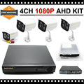 4 Canais Sistema de Segurança Em Casa Ao Ar Livre com 4 pcs Câmera 1080 p 960 p 720 p ahd AHD dvr kit 4CH