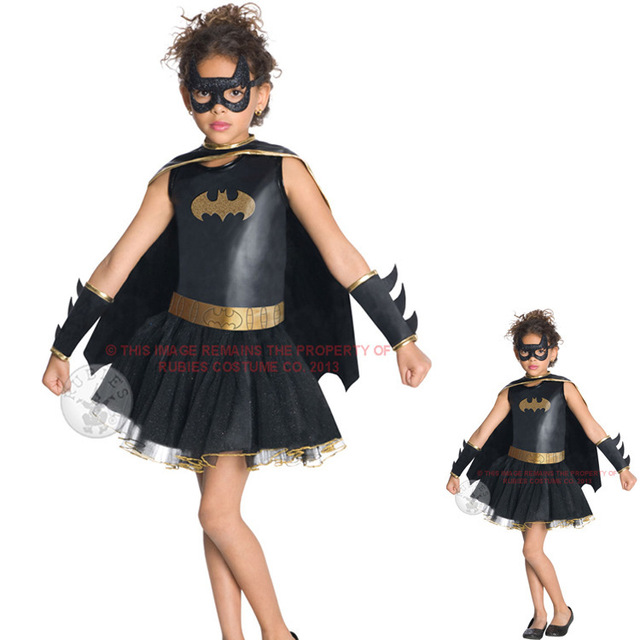 Halloween costume party little girls batman costumes mask party cute ...