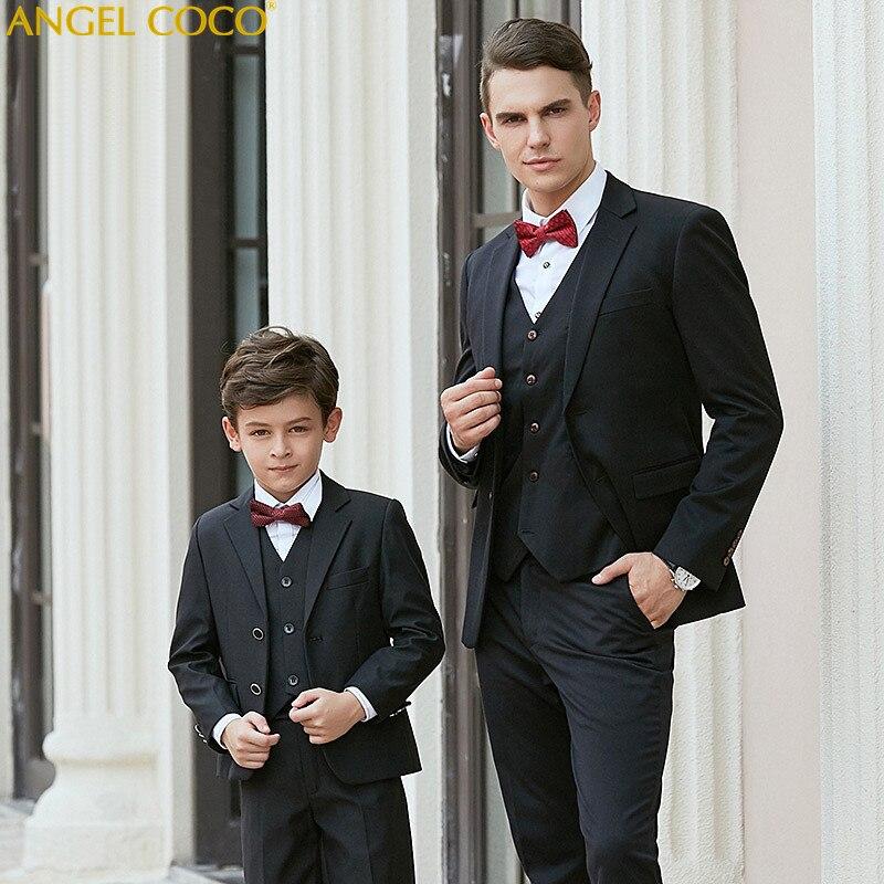 High quality Kids Wedding Blazer Suit Brand Boys Formal Suit Enfant Garcon Mariage Fathe ...