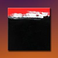 Nieuw ontwerp 100% Handgeschilderde Canvas Olieverf Rood Zwart en Wit Abstract Schilderij Voor Huisdecoratie Muur Decor Geen Frame