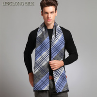 100% SILK VELVET WINTER SCARF For Men 30cmX170cm New Desigual UNISEX Scarf Winter Scarf High Quality Silk Wrap Long Scarf Grey