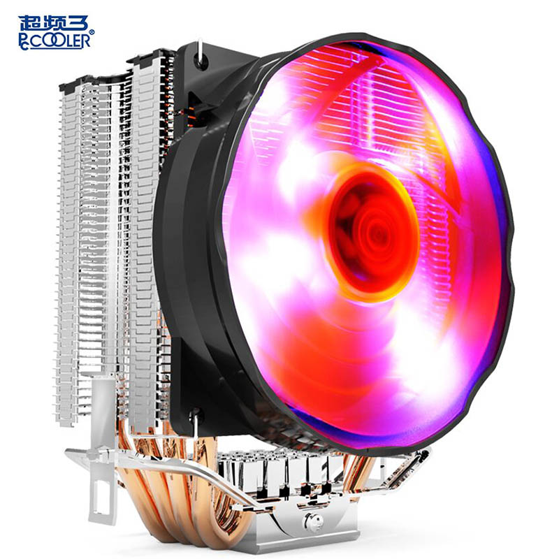 PCcooling S90F CPU cooler 10cm quiet fan 4 copper heatpipes computer CPU cooling radiator for AMD Intel 775 1155 1150 1151 1156