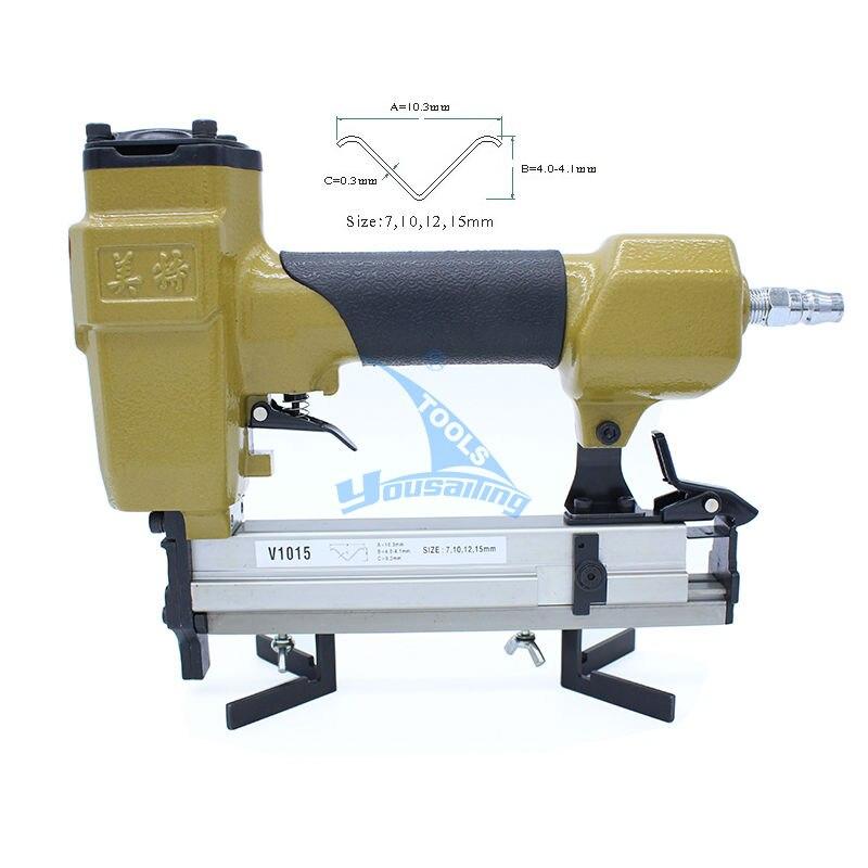 1PC V1015 Pneumatic Nailing Gun +1 BOX 10MM V Nails Air Nailer Tools