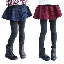 Осенние леггинсы и юбка для девочек, хлопковые брюки для девочек, детские штаны, юбка-брюки, детская одежда