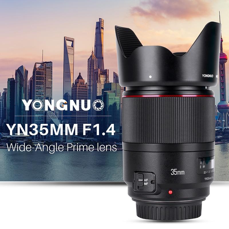 YONGNUO Wide-Angolo di Obiettivo Primario YN35mm F1.4 Luminoso Grande Apertura AF MF Lenti per fotocamere REFLEX digitali Canon