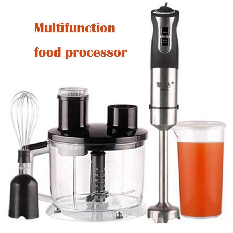 Robot culinaire multifonction mélangeur électrique en acier inoxydable hachoir à viande fruits lait secouer mélangeur de cuisson