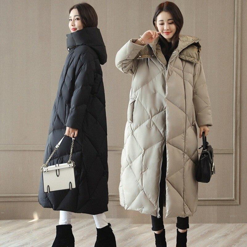Manteau gray Mode Femmes Veste Chaud Épaissir À Parka Femelle Black Ouatée Plus D'hiver Taille Qualité Lâche La Capuche Pw97 2018 De Longue Bureau Rembourré RSgnRrxw