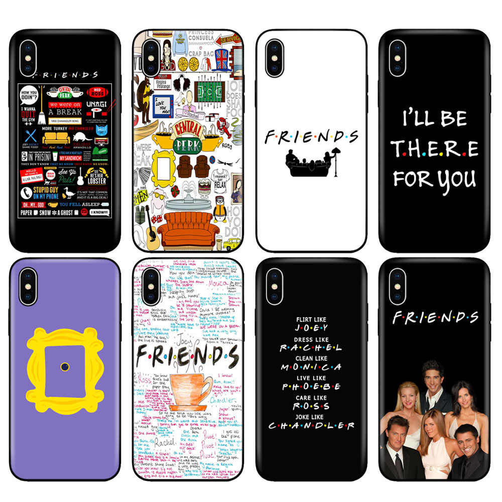 Black tpu case for iphone 5 5s se 6 6s 7 8 plus x 10 case silicone cover for iphone XR XS MAX case Friends TV Show Series Sitcom