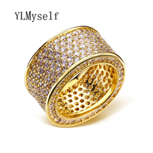 2015 circle ring cz Finger Ring Real 18K Gold /Platinum Plated With Swiss Cubic Zircon Wide Fashion Jewelry