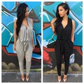 summer hip hop harem pants bottom 2015 plus size Jumpsuits & Rompers for women sexy palazzo pants soft loose trousers black grey