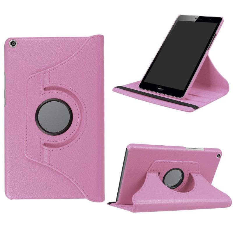 Case Cover For Huawei T3 8.0 KOB-L09 KOB-W09 360 Rotating PU Leather Stand Tablet Case For Huawei Mediapad T3 Honor Play Pad 2 8