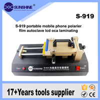 S 919 Built in Vacuum pump OCA Film Laminating Machine for iPhone Samsung LCD Touch Screen Laminate Polarized Film Repair