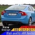 Für Volvo S60 2012-2017 ABS material spoiler Hohe qualität jede farbe oder primer auto hinten flügel auto landschaftsbau dekorative spoiler
