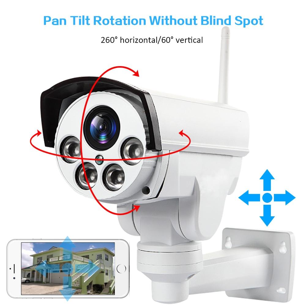 HD1080P Wifi 3g 4g SIM PTZ 5X Zoom étanche Support de caméra Max 128G de vision Nocturne 50 mètres p2p extérieure CCTV caméra de sécurité
