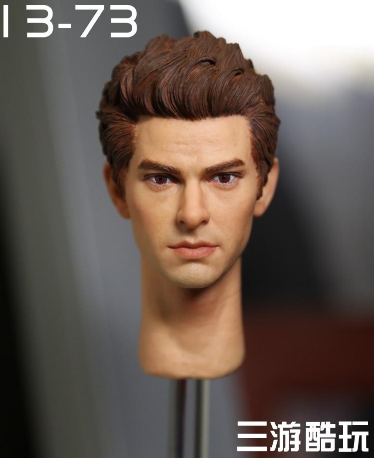 ФОТО kumik 13-73 1/6 Spider-Man Peter Parker Andrew Garfield headsculpt for DIY 12inch doll Parts Man Head shape