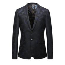 2017 Men's High quality casual printing leisure suit men Business blazer jacket Men's fashion single breasted blazers size M-3XL