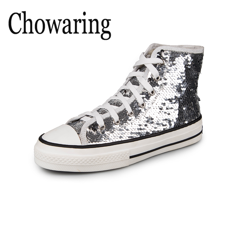 Bling Women spring shoes 2018 fashion sneakers Silver Glitter canvas  comfortable shoes Women s vulcanized shoes 2018 Hot Sale 7da834e37f1a